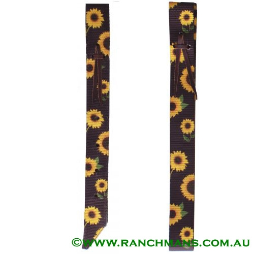 Ranchmans Sunflower Design Nylon Latigo & Off Billet Set