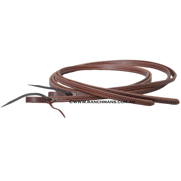 Ranchman's Extra Heavy D&S Harness Leather Split Reins