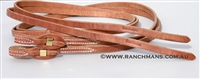 "Ranchman's Premium 5/8"" x 8' Quick Change Hermann Oak Leather Split Reins"