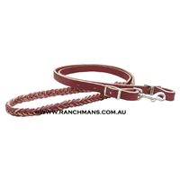 Ranchman's 5 Plait Leather Roping Reins