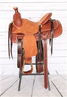 "SRS® 12"" Basket Stamp Roping Saddle"