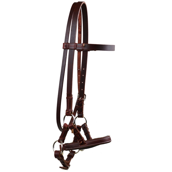 Ranchmans Leather Flat Noseband Sidepull