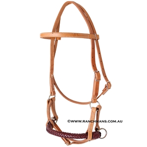 Ranchman's Braided Leather Nose Sidepull