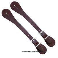 Ranchman's Mens Straight Latigo Spur Straps