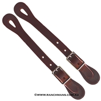 Ranchmans Ladies/Youth Straight Latigo Spur Straps