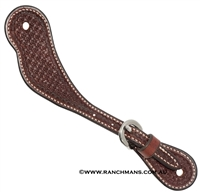 Ranchman's Youth Rosewood Spider Stamp Cowboy Spur Straps