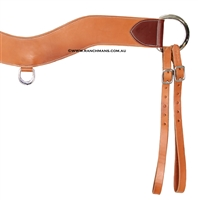 "Ranchmans 3-1/2"" Harness Leather Tripping Collar"