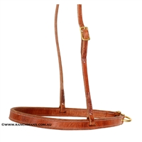 Ranchman's Harness Leather Tie Down Noseband
