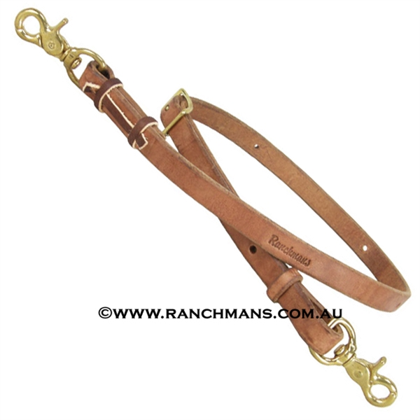 "Ranchman's 3/4"" Harness Leather Tiedown"
