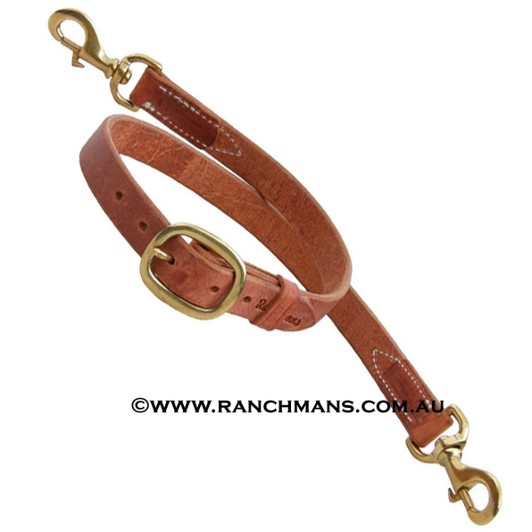 "Ranchman's 1"" Harness Leather Tiedown"