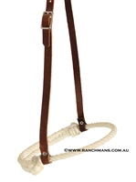 Ranchmans Adjustable Rope Caveson Noseband
