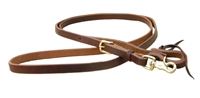 "Ranchman's 5/8"" x 8' Oiled Harness Leather Roping Reins"