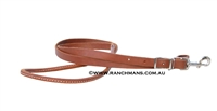 "3/4"" Harness Leather Rolled Centre Roping Reins"