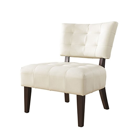 Roundhill off white blended leather chair