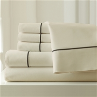 6 piece Cal King Cotton Polyester Blend Sheet Set
