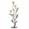 Bouquet Candle Holder With Golden Candle Cups