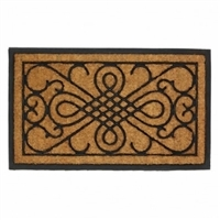 Door Mat with Scroll Design