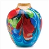 Fantasia Floral Art Glass Vase