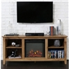 Barnwood 2 in 1 TV Stand and Fireplace with Space Heater