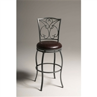 30 INCH BAR STOOL ASH GREY METAL