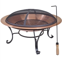 Large outdoor copper fire pit