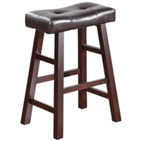 Dark Cherry Counter Stools - Set of 2