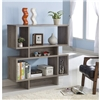 Modern Bookcase Display Cabinet in a Dark Taupe Wood Finish
