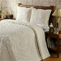 Full Size Chenille Bedspread In Ivory