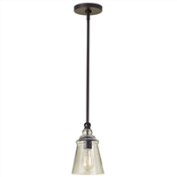 Contemporary 1 light mini ceiling pendant