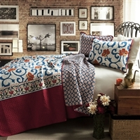3 Piece King Size Quilt - Cotton
