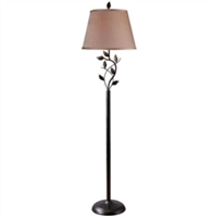 Vine Leaves Floor Lamp - Rubbed Bronze Finish