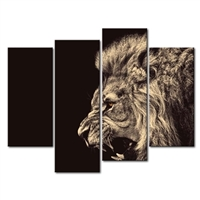 Roaring Lion Wall Art - Big Kitty - Picture Print on Canvas