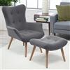 Modern Classic Mid-Century Style Accent Chair and Ottoman