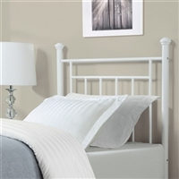 Twin Size White Metal Headboard