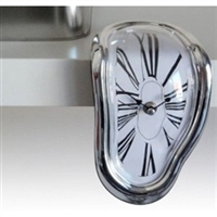 Dali Style Mantel Clock or Shelf Sitting Melting Clock