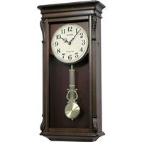 Musical Wall Clock with Automatic Nighttime Melody and Chime Shut Off by Rhythm