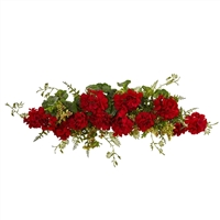 Geranium and Berry Swag 32 inch artificial flower arrangement by Nearly Natural