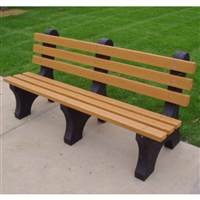 Outdoor Plastic Commercial Grade Park Bench