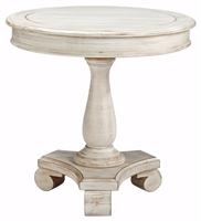 Ashley Furniture Round Cottage Accent Table Chipped White