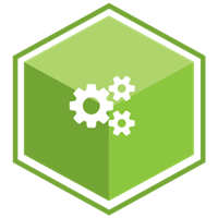 VCS Intelligent Workforce Management icon representing the Compliance Manager module. Green hexagon with gear symbols