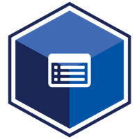 VCS Intelligent Workforce Management icon representing the Timesheet Collector module. Dark blue hexagon with timesheet symbol
