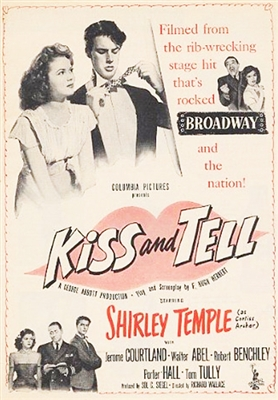 Kiss and Tell (1945) Shirley Temple, Walter Abel, Robert Benchley