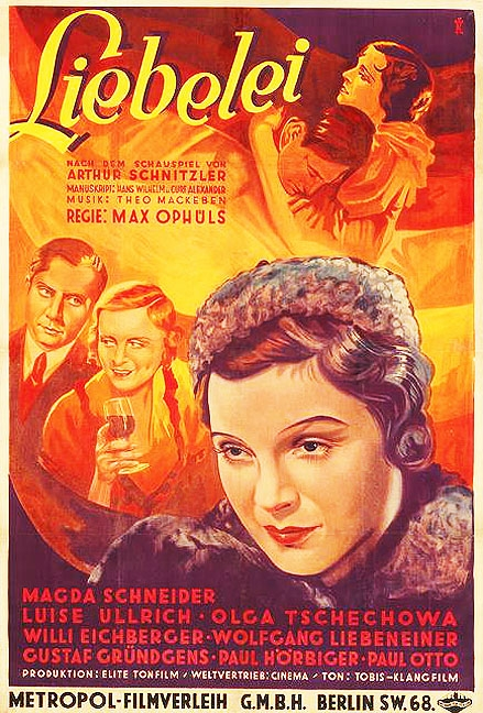 Care One Credit Card >> Liebelei, Playing at Love, Flirtation, Light O'Love, 1933, Max Ophuls, Max Ophüls, Paul ...
