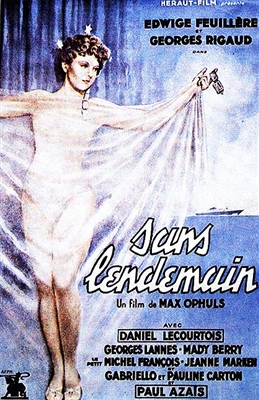 Sans Lendemain (1940) Max Ophuls; Edwige Feuillere, Georges Rigaud