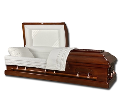 Elite Floral Mahogany Casket Coffin