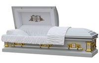 Elite White Angel Casket | Metal Casket | Divine Caskets