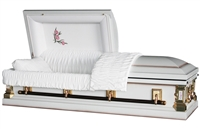 Carnation White Casket Coffin