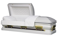 White Onyx Casket Coffin