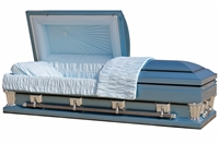 Frank Blue Casket Coffin