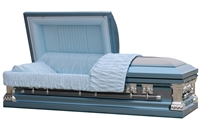 Blue Knight Casket | Metal Casket | Divine Caskets